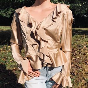Bloomingdale's 100% Silk Fall Trend Blouse